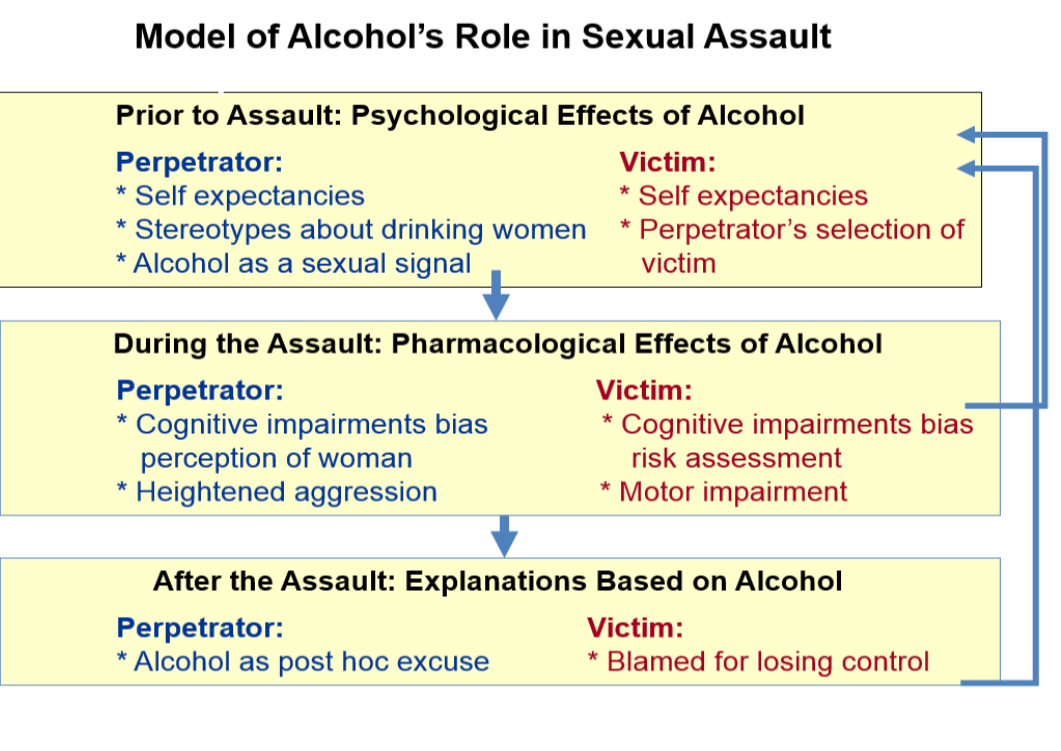 Alcohol role sexual violence